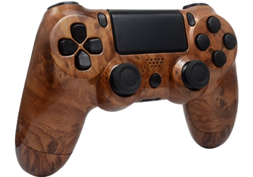 PS4 Luxe hout design custom controller case